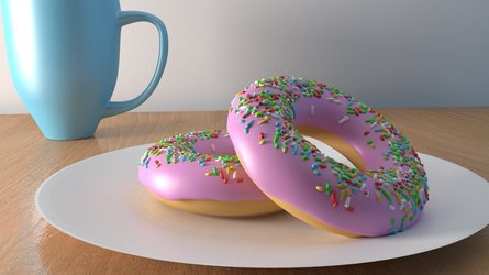 Donuts and a cup by hvaddi9