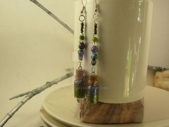 Glitter Vial Drop Earrings by purp1