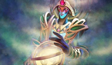 Oracle - Loadingscreen DOTA 2 by wolfartred