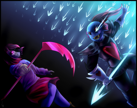 Glitchtale- Undyne vs betty by GalacticDreamerr