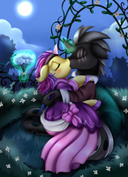 Comm: Kiss under the moon by pridark