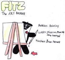 Fitz the Art Badger by marcony