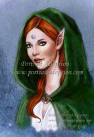 Druidess Portrait Adoption by NicoleCadet