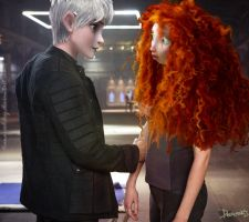 Divergent AU: Merida and Jack by DianAxColibrY