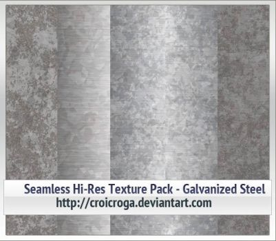 Seamless Hi-Res Texture Pack - Galvanized Steel by croicroga