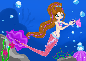 Andy a mermaid - FINAL xD by mackyca