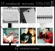 15 notebook textures by xsleepingswanx