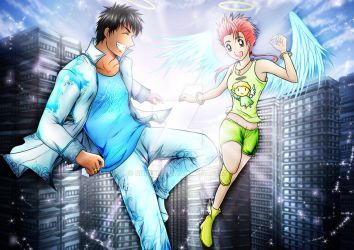 Shya and Mui - Angel Style by Shidyk
