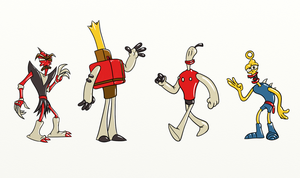 Main characters from the Neverhood by look1982