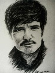 Pedro Pascal - charcoal sketch by Musiriam