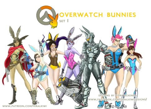 Overwatch Bunnies Set1 by coolbyproxy