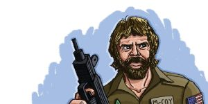 Chuck Norris Delta Force by gaudog