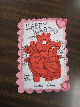 Happy Valentine's day Heart Card by E1L0n3wy