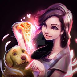 Pizza and Dog Lover by jTeri