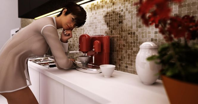 the coffee maker by SaphireNishi