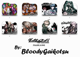 Danganronpa The Animation Shadow Folder Icons by BloodyGaikotsu