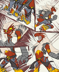 Blaziken Tf 2/2 by Ponchies