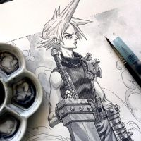 CLOUD FFVII rogercruz wip by rogercruz