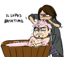 AC: Il Lupo's Bath Time by thunderjelly