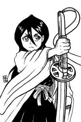 Inktober 2016 Day 4: 13th Division Captain Rukia by taneel