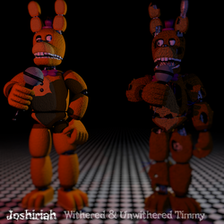 Commission #3: Withered Timmy and Unwithered Timmy by Joshiriah