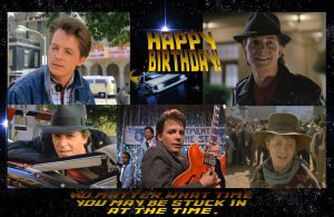HAPPY BIRTHDAY MARTY McFly Back to the Future by ENT2PRI9SE