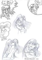 Lina and Gourry kissing by GoddessRhiannon13