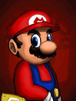 Mario animated portrait by Nighteba