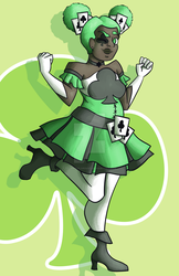 Ace of Clubs Magical Girl by technicolordust