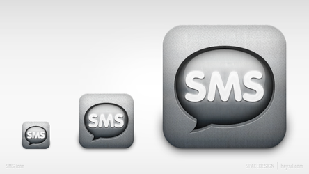 iPhone replacement icon-sms by hehedavid