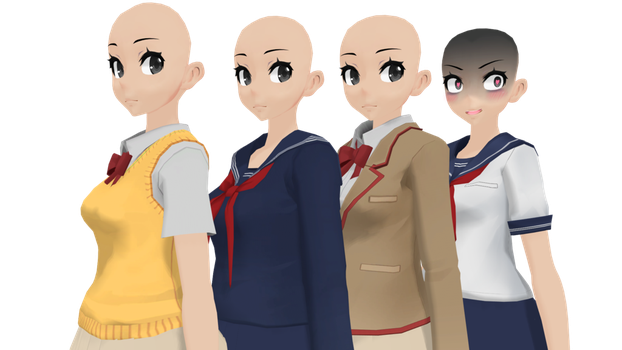 Yandere Simulator Uniforms DOWNLOAD by Virtually3D