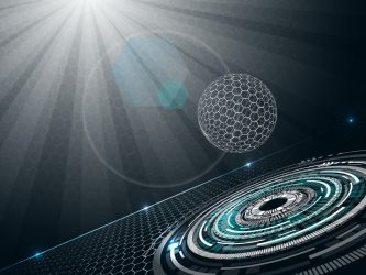 Futuristic-background-with-sphere by gin-tas