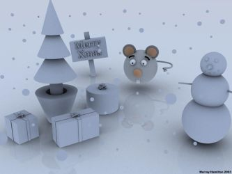 Monty the Mouse at Xmas by MurrayH