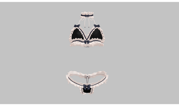 MMD Frilly lingerie set by amiamy111