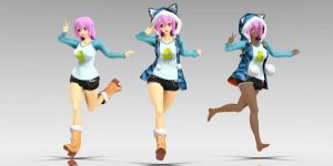 Super Sonico Hood (Download Model) by YamiSweet
