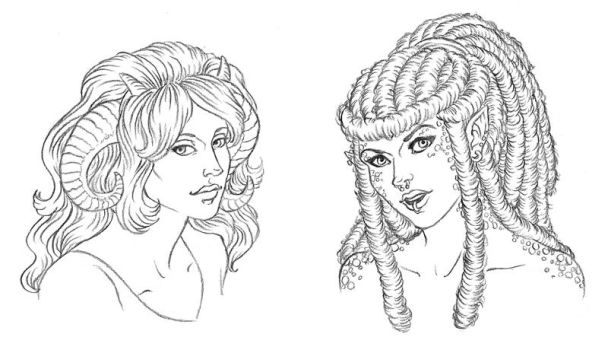 $5 Headshots: Aries and Andorra by temiel