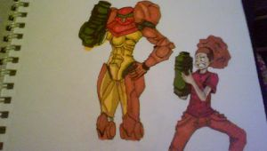 samus and dre ....funny stuff by DEHOUSE