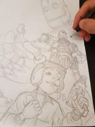 the iron giant WIP by giuseppe92