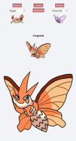 Pokemon Fusion: Kingmoth by SoraWolf7