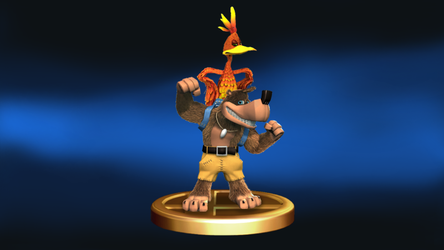 SSB4 - Banjo and Kazooie Trophy by mbluebird2