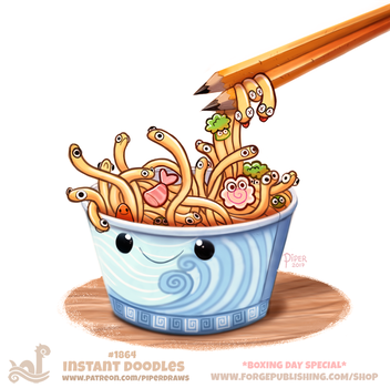 Daily Paint 1864# Instant Doodles by Cryptid-Creations