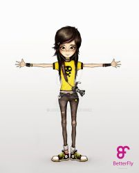 Girl Character by Anuk