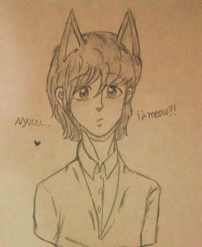 Paul McCartney + Nekomimis + Long Hair by MissFanii