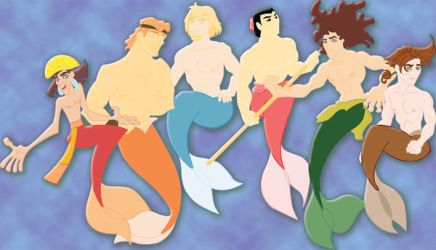 viciousN's Disney mermen by daniebarton03