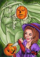 Hallowe'en 2 Sketch Card - Gabrielle Bruer 1 by Pernastudios