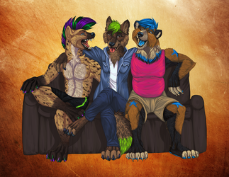 Commission - Dragov, Butters, and Nos by alaitallon