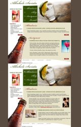 Alkohol and drinks template by tysmin