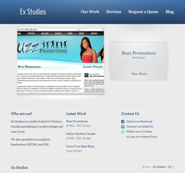 Ex Studios Website by extrix