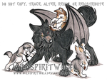 Gypsy Moon Puppies Commision by WildSpiritWolf