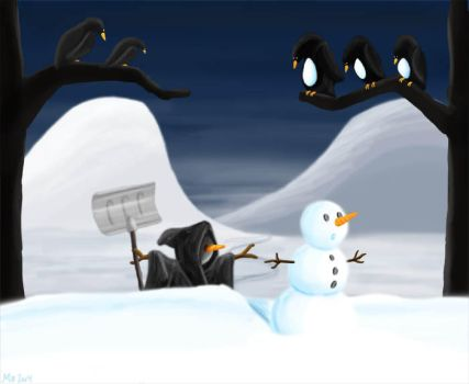 Of the fate of snowmen by Art-Gecko